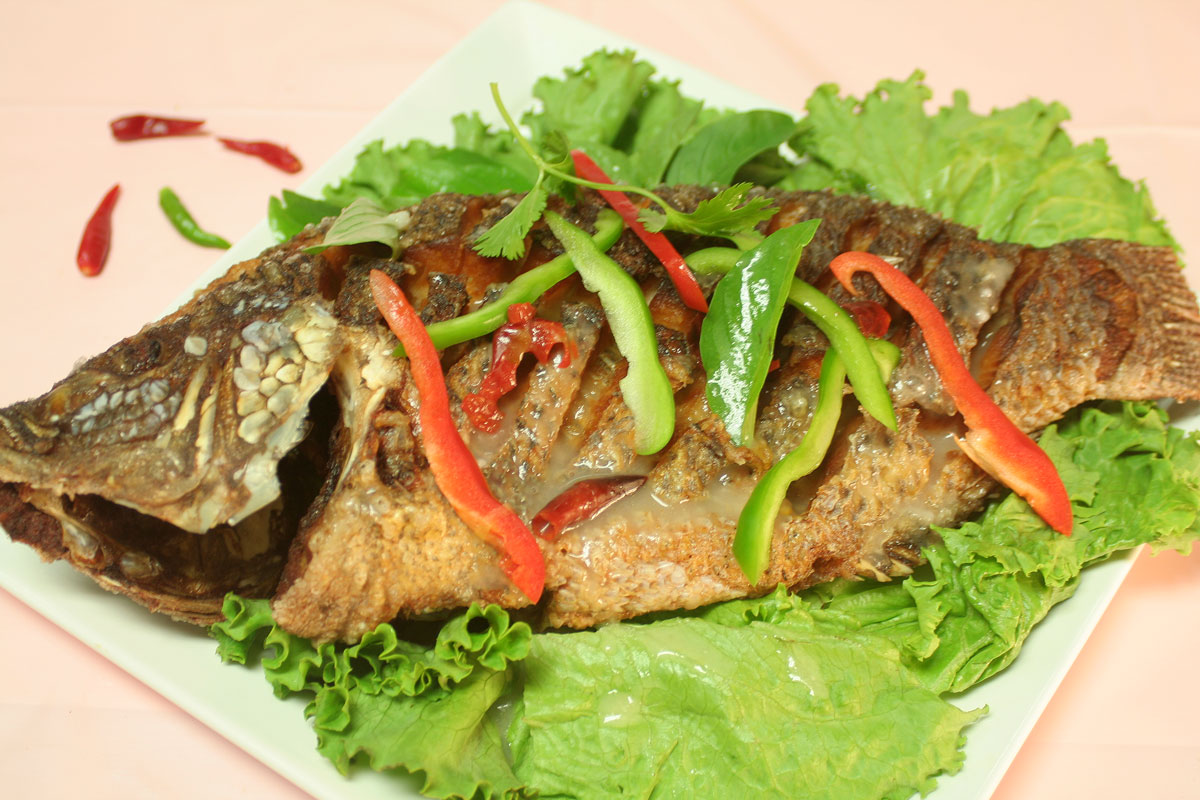 Spicy Sauce with Deep Fried Tilapia