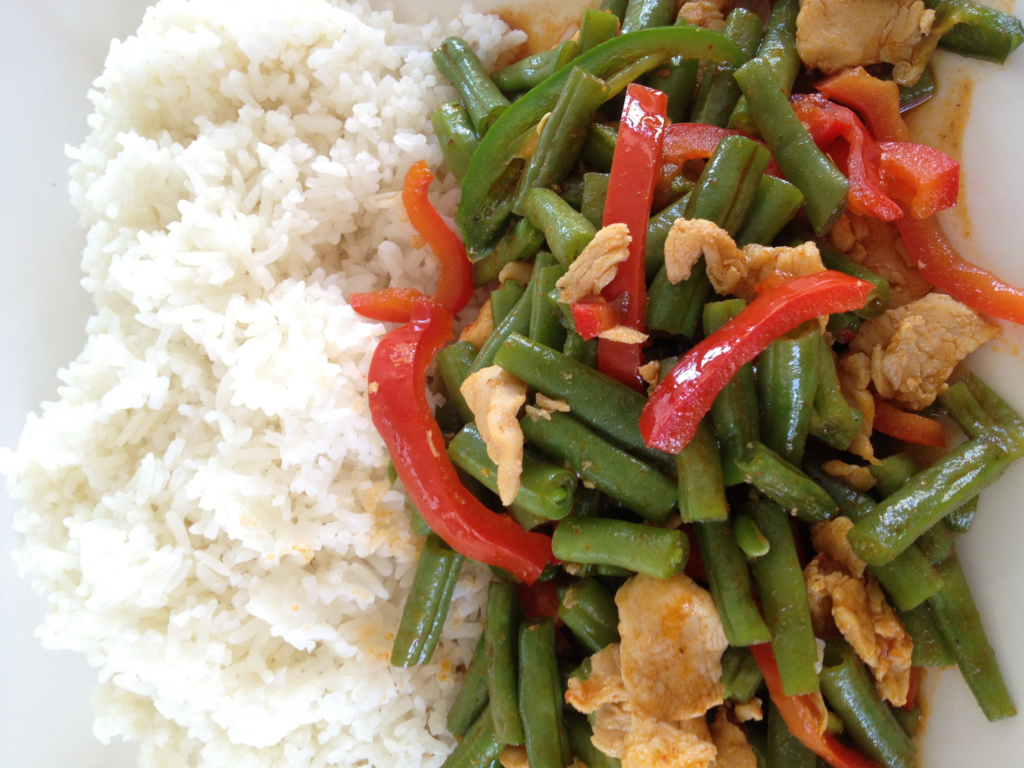 Garlic & Pepper Pork With Rice